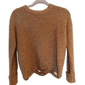 Knitted Sweater with Cut Outs